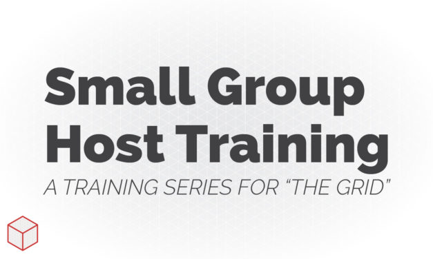Small Group Host Training