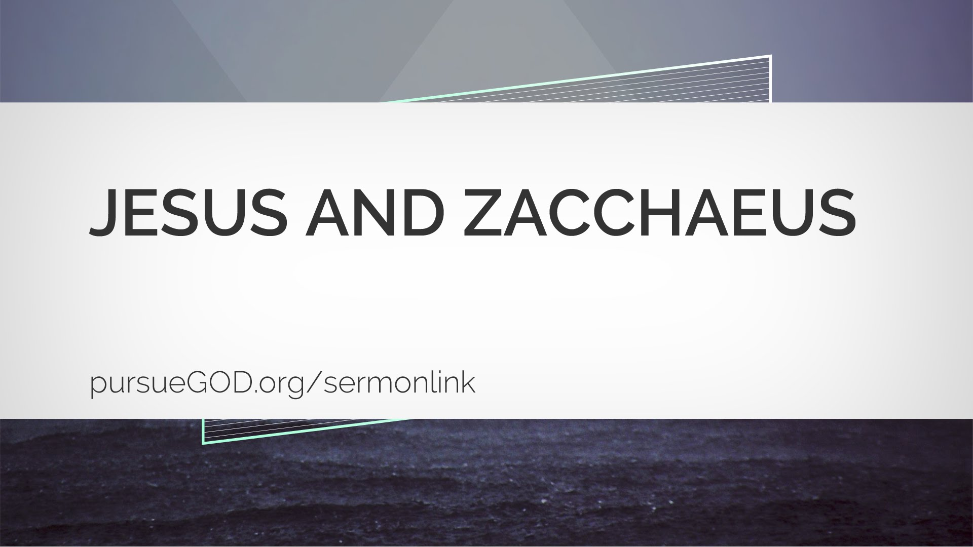 Jesus and Zacchaeus